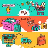 Set di banner di e-commerce