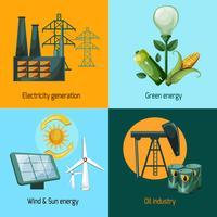 Set di icone di energia vettore