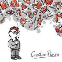 Illustrazione del processo creativo vettore