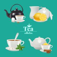Set di design per il tè vettore