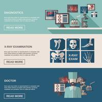 Set di banner a raggi X e ad ultrasuoni vettore