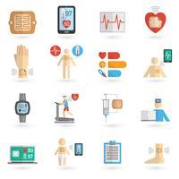 Icone piatte indossabili smart patch