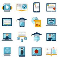 Set di icone di e-learning