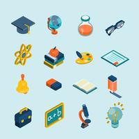 Set isometrico di educazione