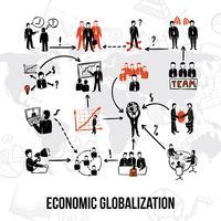 Infografica di organizzazione aziendale vettore