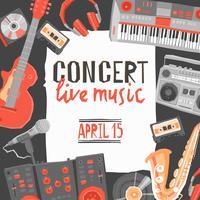 Poster di concerti di musica vettore