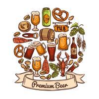Concetto di birra premium vettore