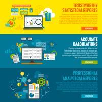 Set di banner di analisi dei dati