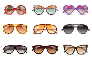 Set realistico occhiali da sole vettore