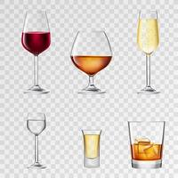 Bevande alcoliche trasparenti vettore