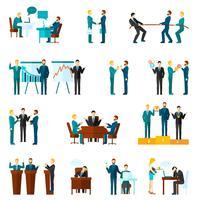 Set di icone di collaborazione vettore