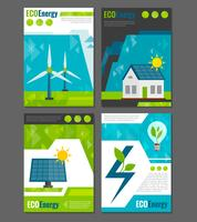 Poster di icone di energia eco vettore