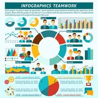 Set di infografica di lavoro di squadra vettore