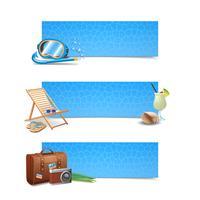 Set di banner di viaggio vettore