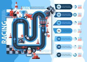 Set di infografica da corsa
