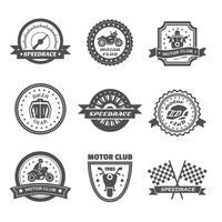 Set di etichette del cavaliere vettore