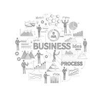 Schizzo di concetto di business