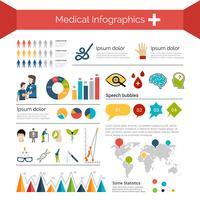 Set di infografica medica vettore