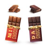 Set di barrette di cioccolato
