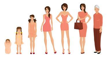 Set donna generazione vettore
