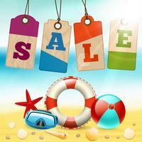 Carta da parati estate vendita vettore