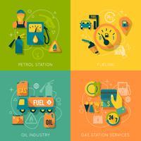 Set di composizione stazione di benzina