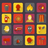 Set di icone antincendio