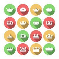 Set di icone della corona vettore