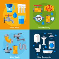 Set di rifornimento idrico vettore