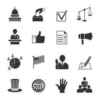 Set di icone di elezioni vettore