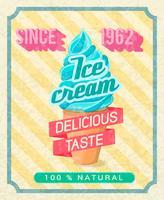 Poster di gelato vettore