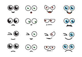 occhi di cartone animato vettore