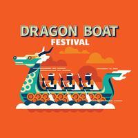 Corse di barche competitive nel tradizionale Dragon Boat Festival vettore