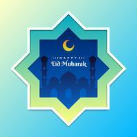 Eid Mubarak Islamic Minimal Design Design Template vettore