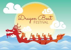 Illustrazione di Dragon Boat Festival