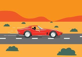 Illustrazione vettoriale di auto retrò