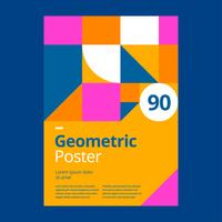 Geometric Poster Design Template Giallo