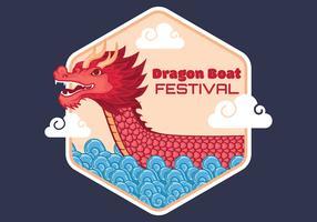 illustrazione vettoriale di drago barca