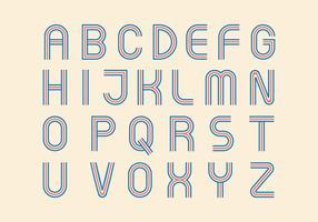 Retro alfabeto vettoriale