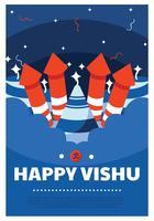 Disegno vettoriale Vishu felice