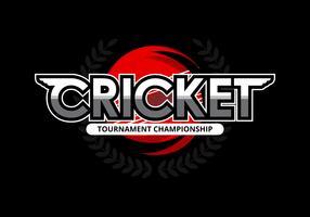 Illustrazione di logo del cricket
