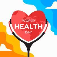 Poster della Giornata mondiale della salute vettore