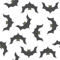 Modello senza cuciture di Halloween, volo del pipistrello, progettazione piana con la maschera del ritaglio
