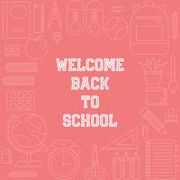 bentornato al manifesto della scuola con il tema delle materie scolastiche