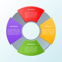 Modello di infografica di quattro opzioni o diagramma del flusso di lavoro