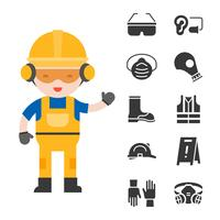 sicurezza industriale e attrezzatura protettiva per il lavoratore