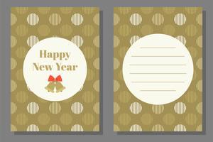 Modello di biglietto di auguri o invito di Natale, design piatto