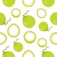 seamless pattern di cocco design piatto per carta da parati o carta da imballaggio vettore