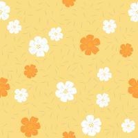 motivo floreale senza soluzione di continuità, design piatto per uso come sfondo, carta da imballaggio o carta da parati