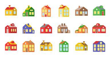 icona di casa vettoriale, pixel design piatto perfetto